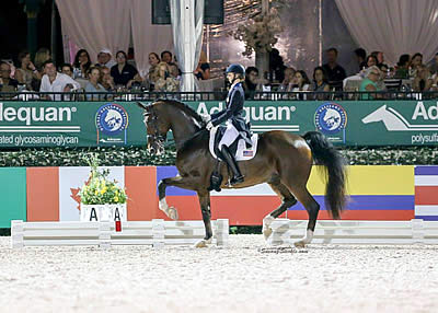 Laura Graves and Verdades Mark Historic Night in the FEI Grand Prix Freestyle CDIO 3*