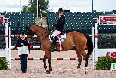 Sharn Wordley and Casper Win Equis Best Presented Horse Award at Tryon