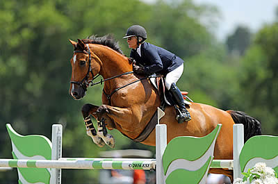 Maryann Charles Garners the Blue in the $30,000 HITS Grand Prix at HITS Culpeper