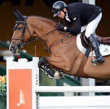 Lamaze Leads Two in a Row to Start 'North American' Tournament at Spruce Meadows