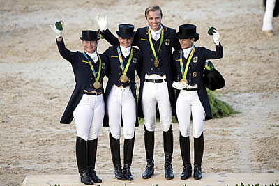 Normal Order Restored as Germany Takes Olympic Dressage Team Gold Once Again