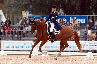 Jung Takes Control after Dressage at Pau