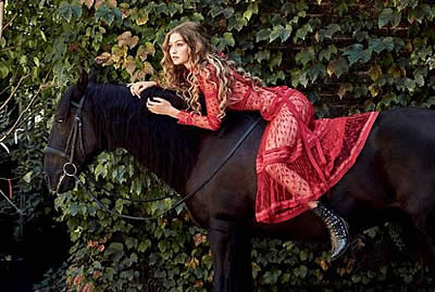 Zulu Interagro Brings Equine Chic to Allure's December Issue