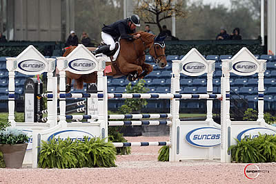 Markus Beerbaum and Tequila de Lile Top $35k Suncast 1.50m Championship Jumper Classic at WEF