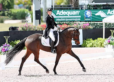 Marilyn Little and RF Scandalous Lead after Dressage in $100k Wellington Eventing Showcase