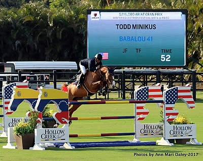 Todd Minikus and Babalou 41 Claim Victory in the FEI $216,000 Ariat Grand Prix at WEF