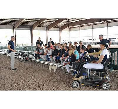 Riders Have Successful Symposium with Para-Dressage Coach Michel Assouline