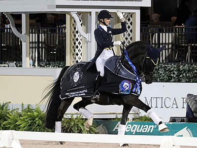 Katherine Bateson-Chandler and Alcazar Rock the FEI Grand Prix Freestyle CDI 4* at AGDF