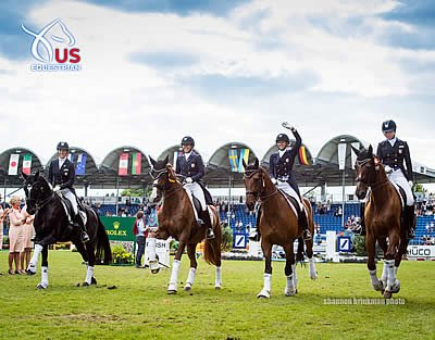 US Dressage Team Wins Silver at FEI Nations Cup CDIO5* Aachen