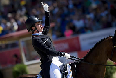 Bettina Hoy Puts Germany in Control at Eventing Championships in Strzegom