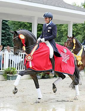 Cesar Parra Warms Up for Markel/USEF Young & Developing Horse Dressage Nat'l Championships