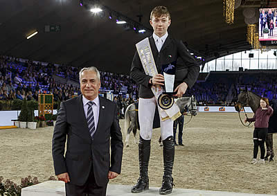 Seamus Hughes-Kennedy Is First-Ever Winner of FEI Pony Jumping Trophy Final in Mechelen