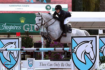Samantha Cohen and Carmen Win $10k Sleepy P Ranch SJHOF High Junior Jumper Classic