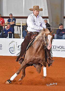Larson and Huss Tie for Gold, McCutcheon Bronze at WEG Reining Test Event