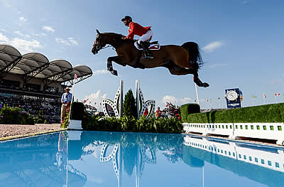 Super Swiss Head the Leaderboard Going into Day 2 of Bank of America Jumping Championship