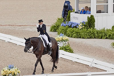 Germans Flex Their Mighty Muscles as Team Dressage Gets Underway