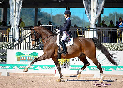Laura Graves and Verdades Open 2019 Adequan Global Dressage Festival with Victory