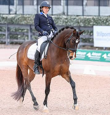 Rebecca Hart and El Corona Texel Win FEI Para Freestyle Grade III-CPEDI 3* at AGDF