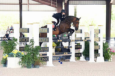 Lynne Clibburn and Apple Jack 12 Win $7,000 Lactanase 1.35m Open Stake at ESP June I