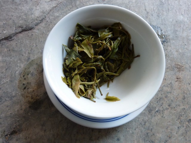 Meng Song Bitter Tea leaves after three steepings