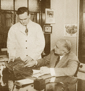 Philip Chappel (seated) originated the controversial idea of raising and harvesting American horses for their meat.