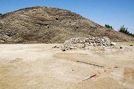 The excavation site.