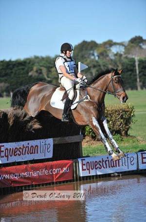 Australian team member Christine Bates riding Delago