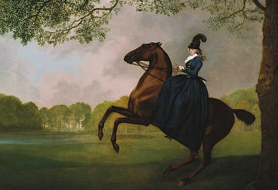The 1793 George Stubbs painting of Laetitia, Lady Lade.
