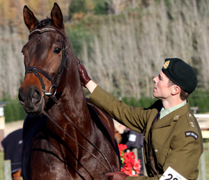 Fraser King and Nadal at the trot-up.