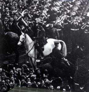 Billie the White Horse, saviour of the 1923 FA Cup Final.