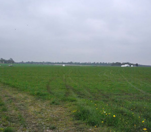 What should have been a packed field is sodden and empty.