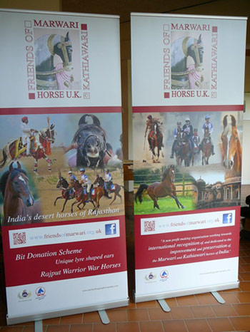 Banners for the Friends of Marwari Bit Donation Scheme will be on display at the group's stand at Royal Windsor.