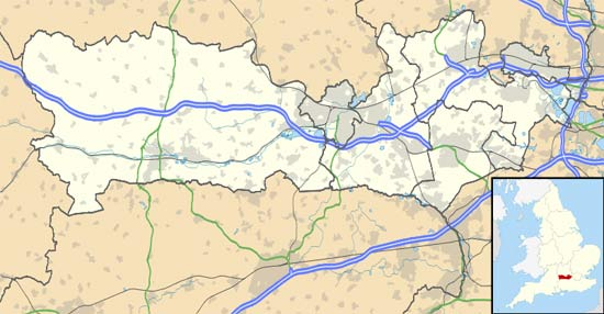 Location of Padworth Common in Berkshire