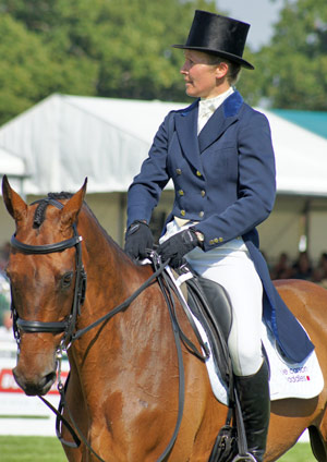 Clea Phillipps and Lead the Way, pictured at Burghley in 2011.