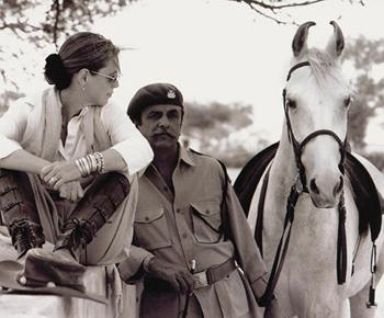 Francesca Kelly and Kr. Raghuvendra Singh Dundlod (Bonnie).