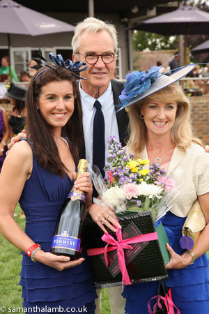 2011 Ladies' Day winner with judge Larry Lamb.