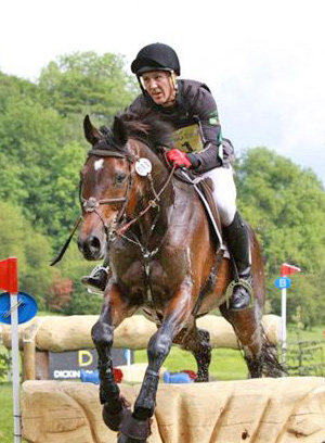 Alex Peternell and Asih jumping out of the water at Bramham CCI 3* in June, where they completed their Olympic qualification.