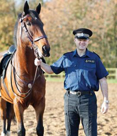 Dave Palmer-Davies and police horse Pendel.