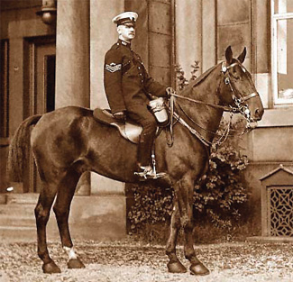 Sgt Hodkinson in Stanley Street, before he retired in 1926.