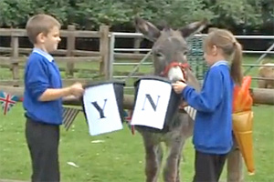 Larry the psychic donkey says no.