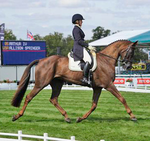 Alison Springer and Arthur IV finished the dressage phase in second place.