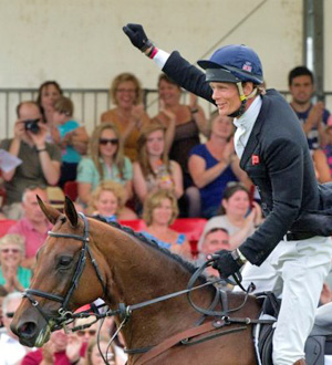 William Fox-Pitt celebrates his CCI3* win at Blenheim on Seacookie.