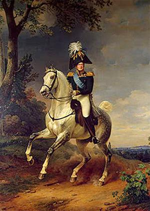 Franz Kruger, Equestrian Portrait of Alexander I (1837)