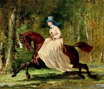 Alfred de Dreux, Une amazone en Forêt (nd)