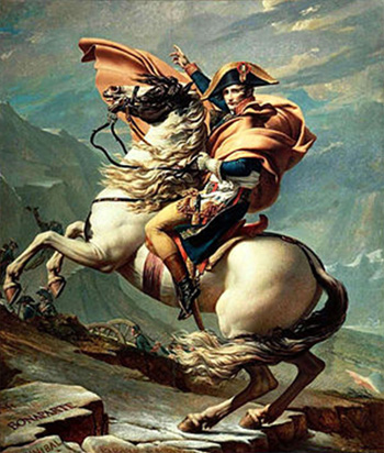 Jean-Louis David, Napoleon Crossing the Alps (1800)