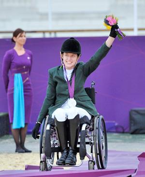 Ireland's Helen Kearney, who rode Mister Cool to silver in Grade Ia.