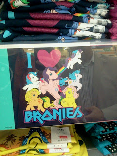 The offending Bronie T-shirts.
