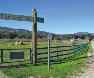 Entrance to the Reagan ranch.