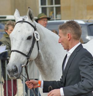 Event Riders Association representative Bruce Haskell, pictured with Kiwi Smog at Badminton in 2010.