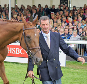 Mark Todd with Major Milestone at Burghley earlier this year.